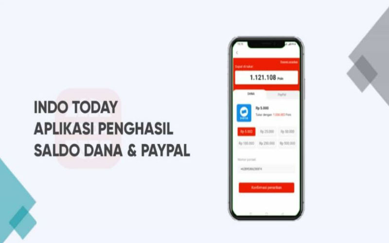 Indo Today Apk penghasil Uang, Terbukti Membayarkah?