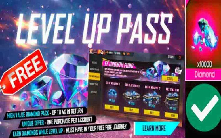 Level Up Pass Free Fire, Cara Beli Diamond